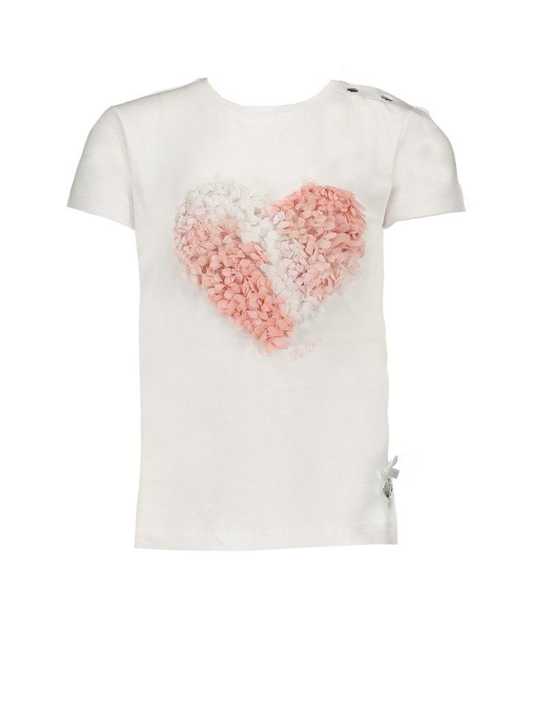 """Le Chic Tshirt """"Heart"""" 3D white"""