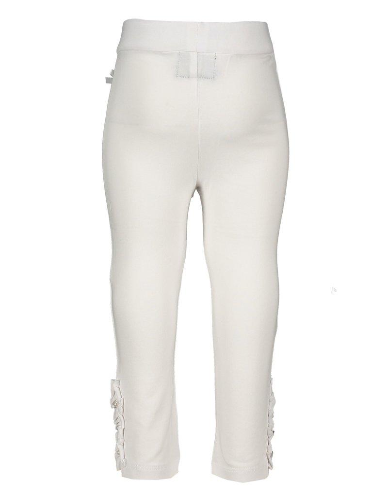 Le Chic Legging ruffles & pearls white