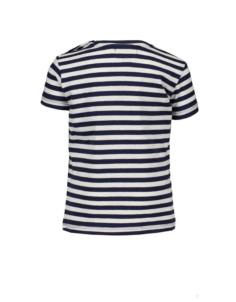 Le Chic Tshirt streepjes ruffles