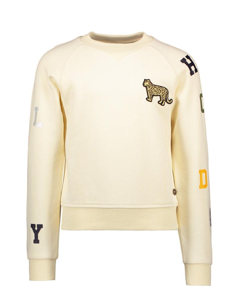 """LIKE FLO Sweater """"Leopard"""" cotton cream"""