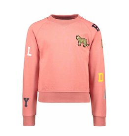 "LIKE FLO Sweater ""Leopard"" cotton blush"
