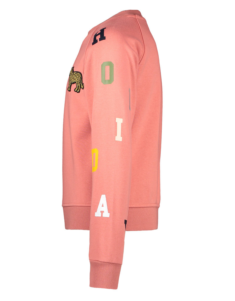 "LIKE FLO Sweater ""Leopard"" cotton blush"