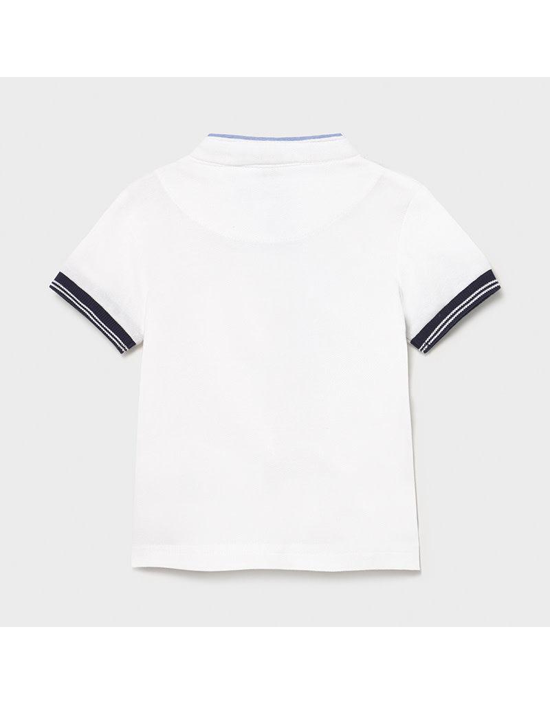 MAYORAL Polo opstaand kraagje blanco