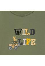 """MAYORAL 2 delige set Tshirt """"Wild Life"""" + Jeansshortje"""