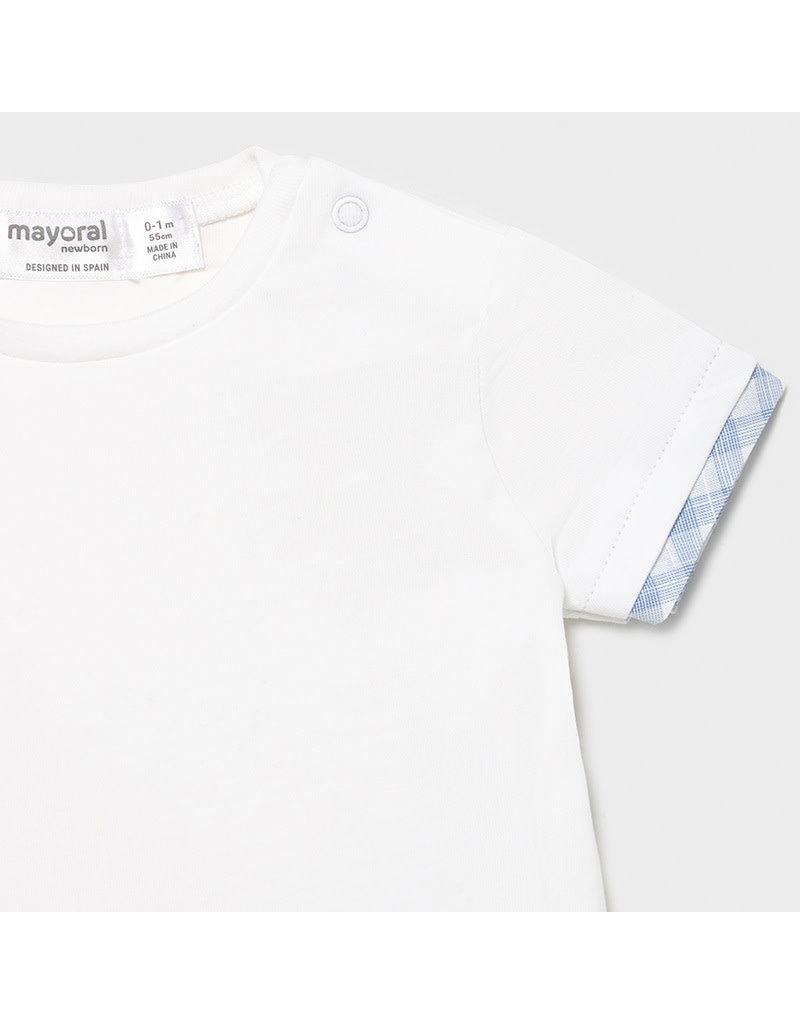 MAYORAL 2 delige set Tshirt + Salopette celeste