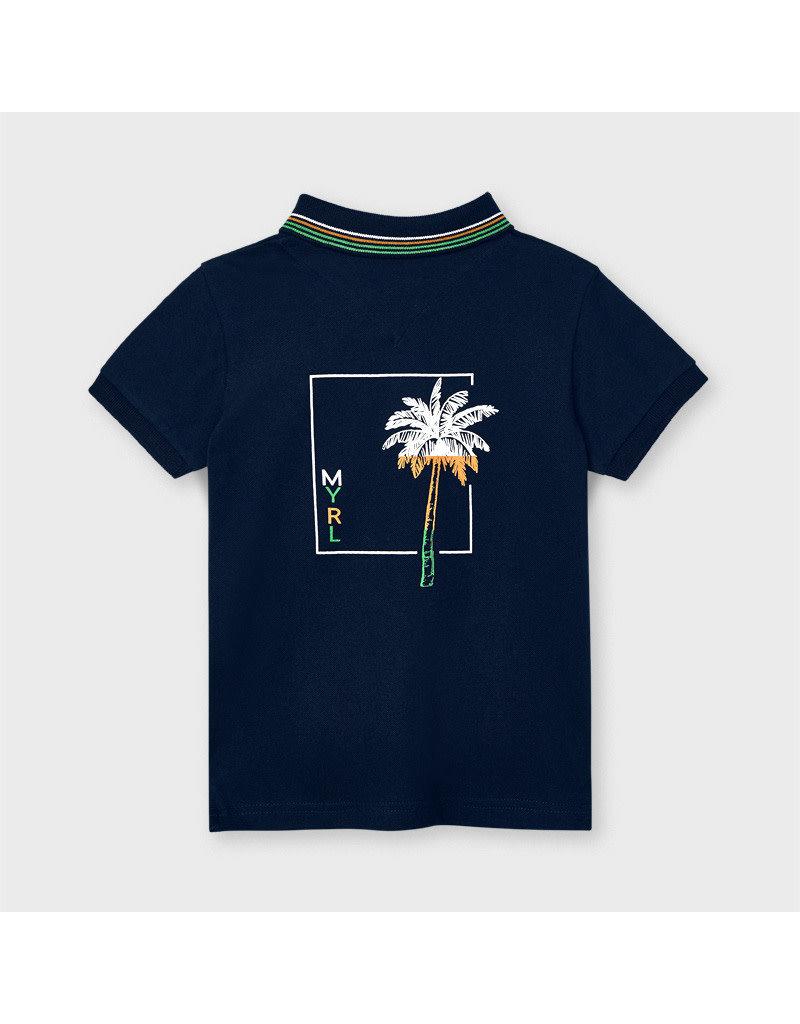 "MAYORAL Polo ""Palmtrees"" navy"