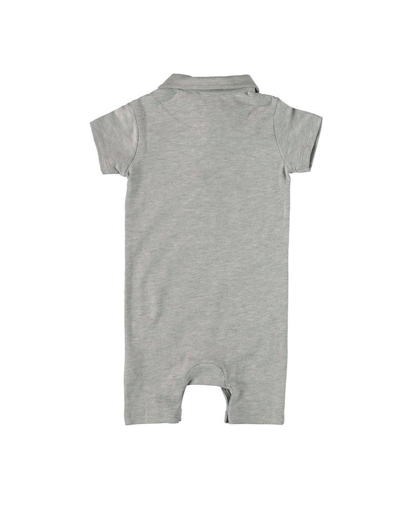 Le Chic Garçon Polosuit cotton grey melee