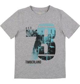 """Timberland Tshirt """"73"""" grijs/aqua"""