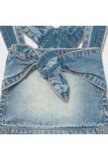 MAYORAL 2 delige set Jeansjurkje zilver tule+Bodyhemdje