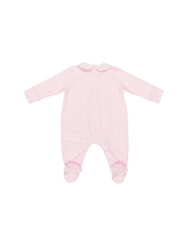 LE BEBE Pyjama roze kraagje streepje