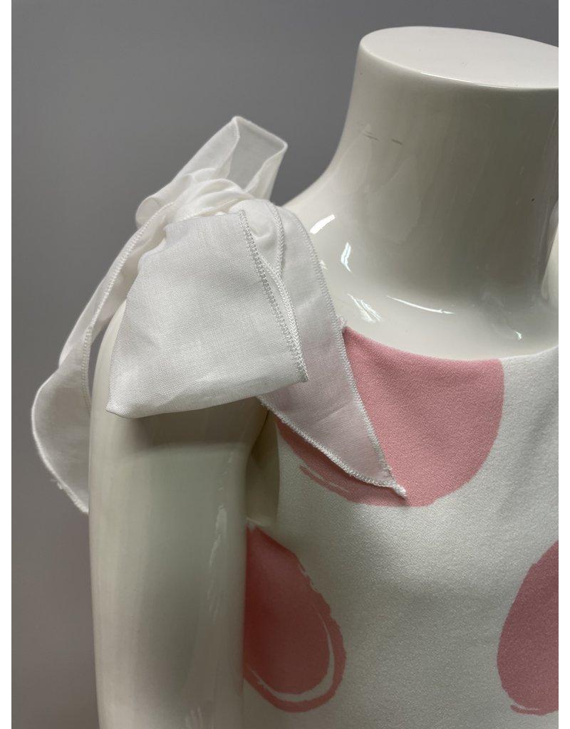 Special Day Jurk bollen roze strikjes schouder