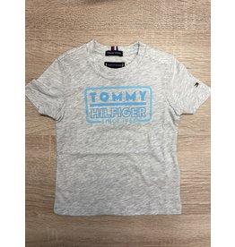 TOMMY HILFIGER Tshirt neon artwork light grey heather