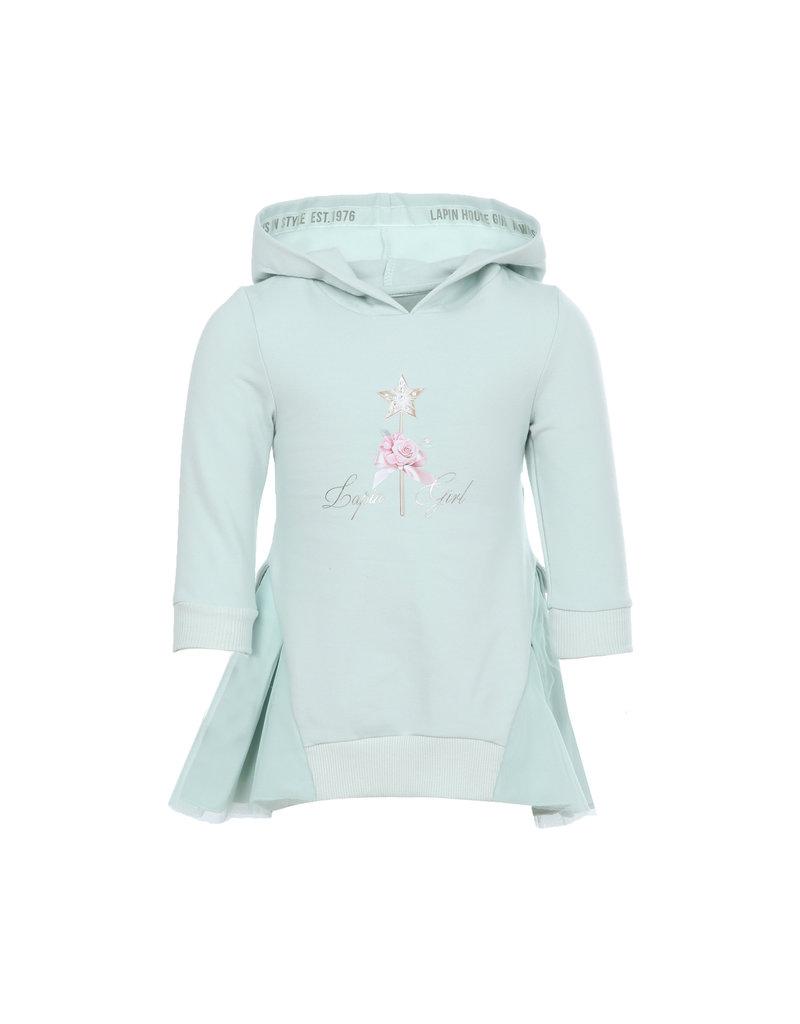 "Lapin House Sweaterjurk ""Lapin Girl"" tule turquoise"