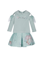 """Lapin House LAPIN HOUSE 2 delige set """"Jolie Lapin"""" turquoise"""