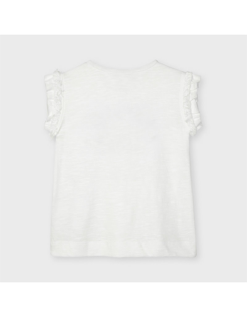 MAYORAL 2 delige set Tshirt+Rokje crudo beige