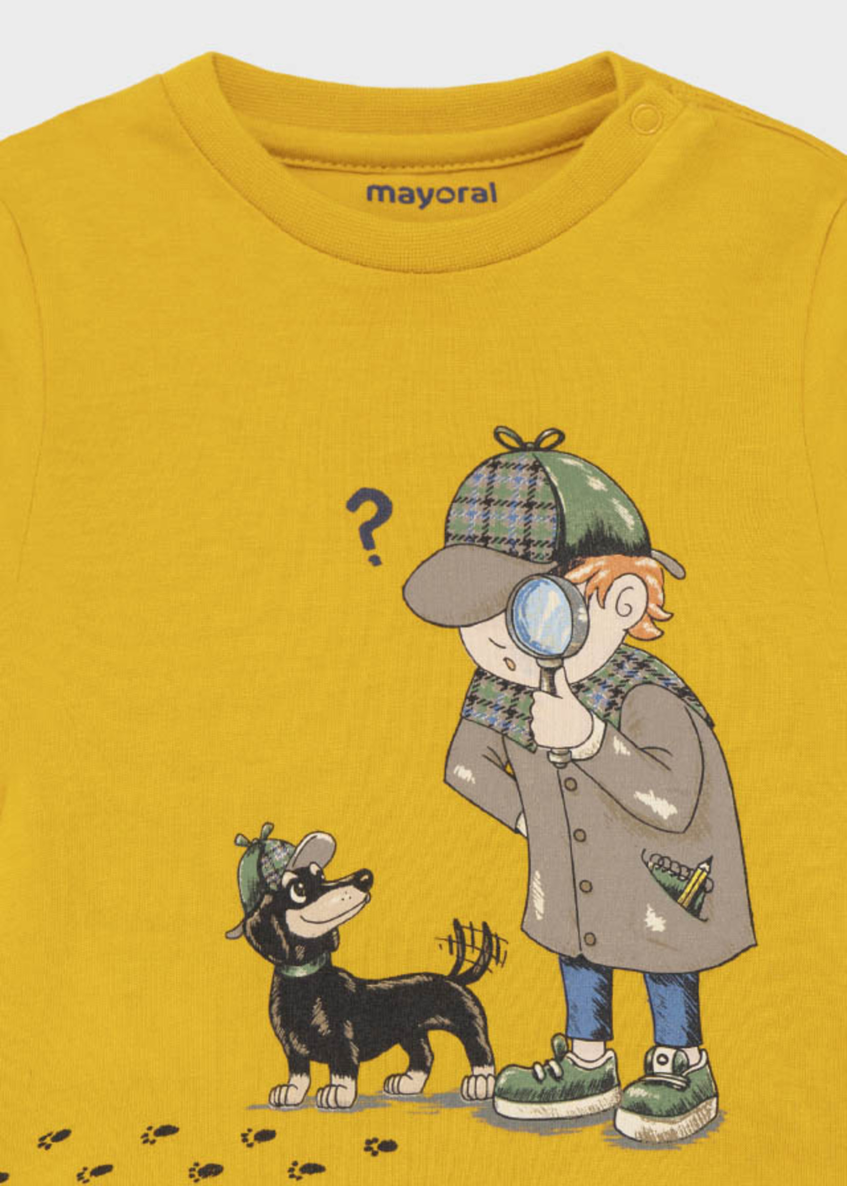 """MAYORAL MAYORAL Longsleeve """"Detective"""" geel"""