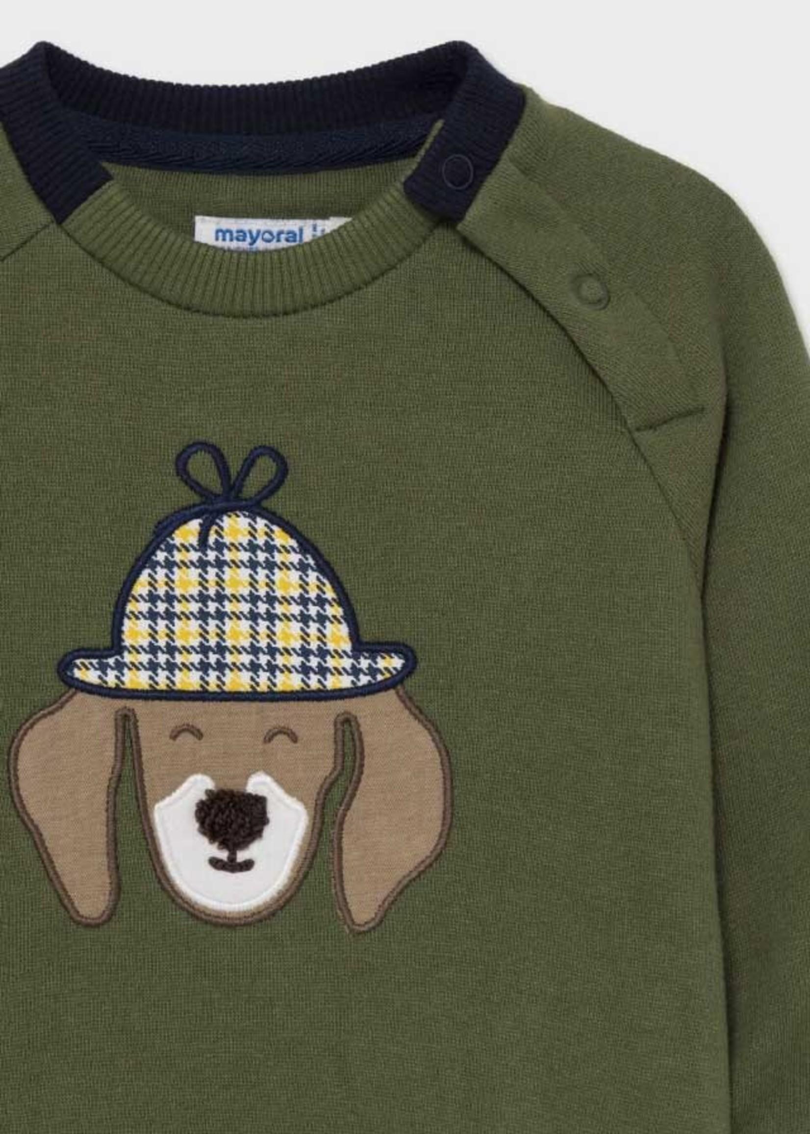 "MAYORAL MAYORAL Sweater ""Dog"" hunt green"