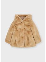 MAYORAL MAYORAL Faux fur coat hazelnut