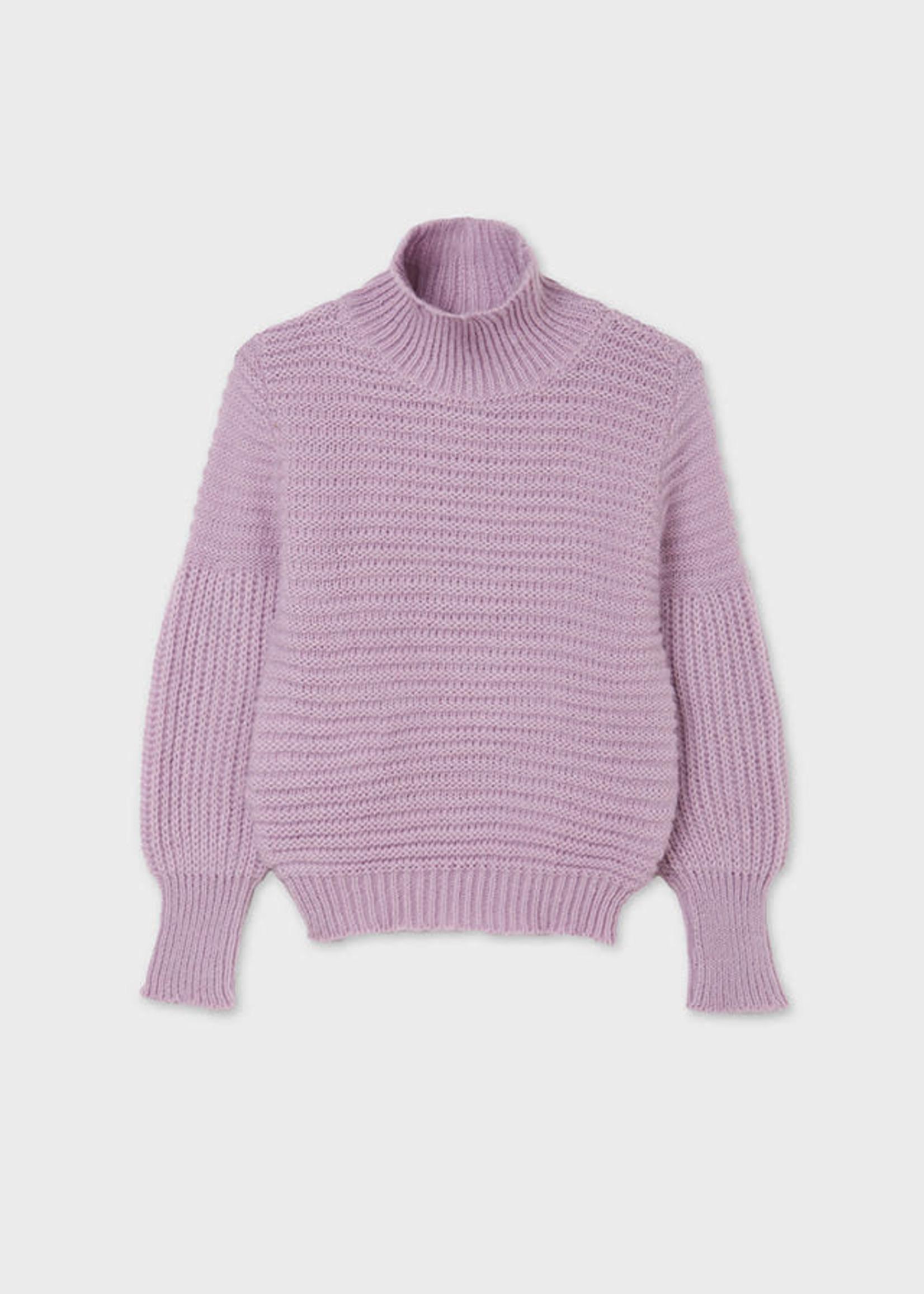 MAYORAL MAYORAL Sweater collar perkins lilac