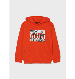 """MAYORAL Hoodie """"Youth"""" print paprika"""