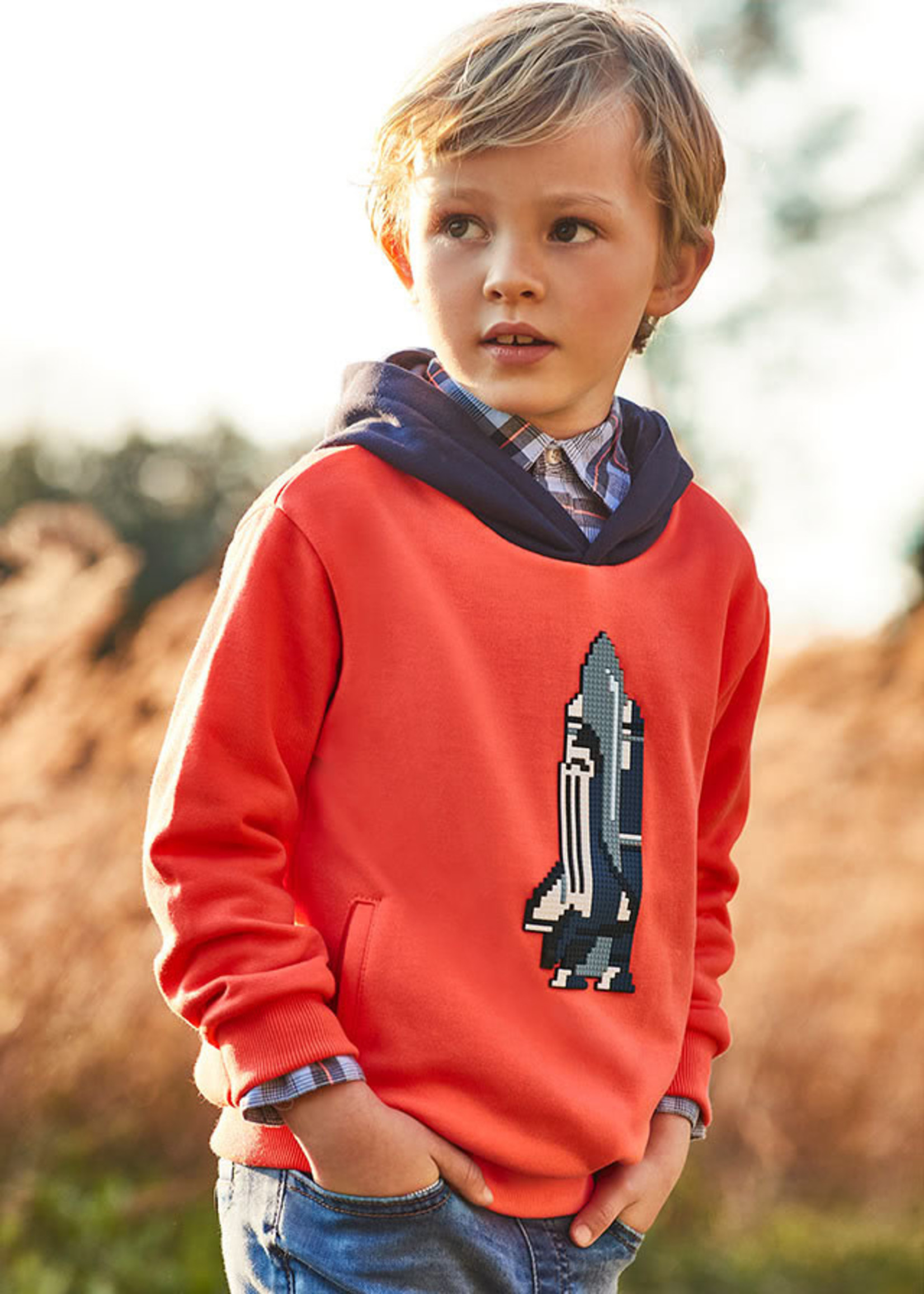 "MAYORAL MAYORAL Sweater kap ""Space Shuttle"" orange"
