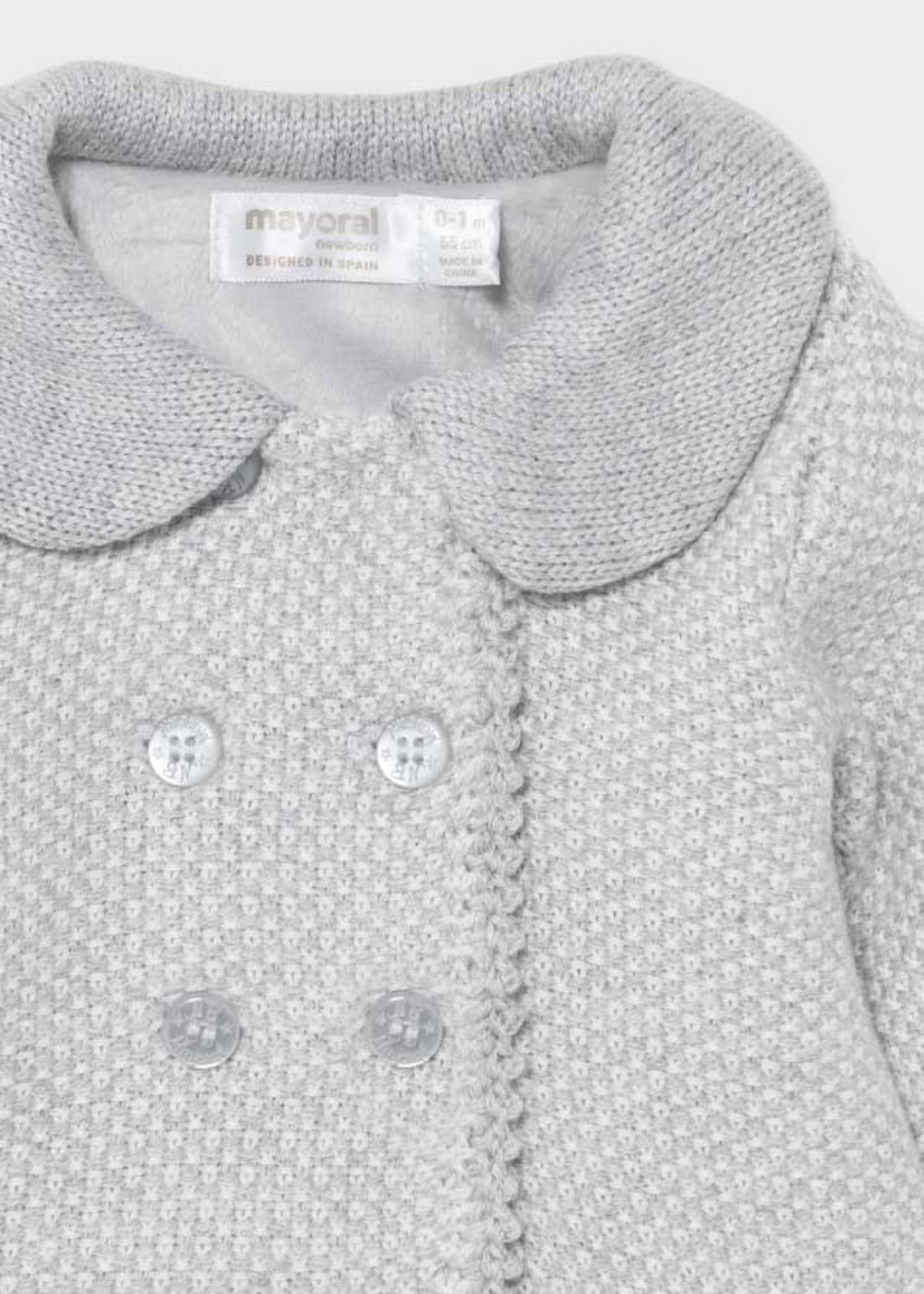 MAYORAL MAYORAL Mantel knitted + bonnet grijs