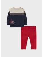 """MAYORAL MAYORAL 2 delige set sweater """"bicycle""""+broek rood"""