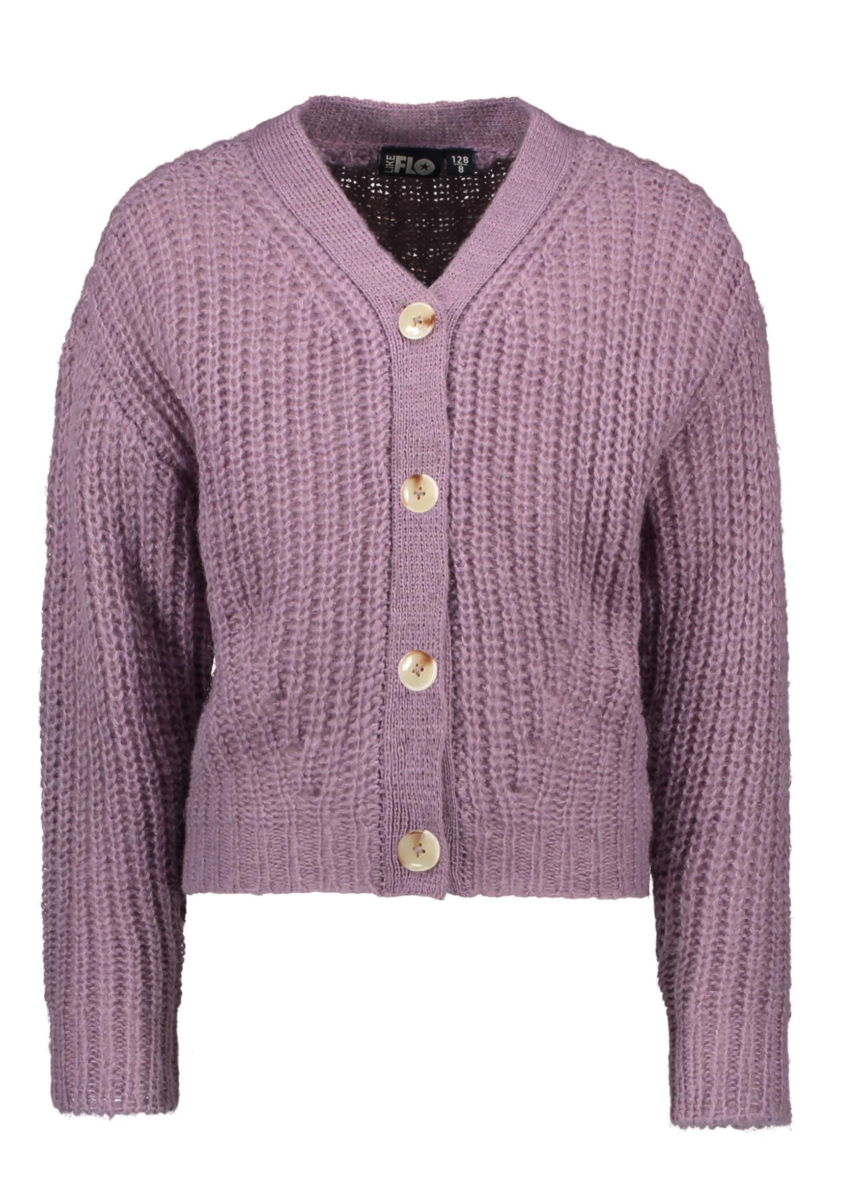 LIKE FLO LIKE FLO Cardigan knit lilac