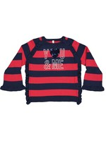 """TRYBEYOND TRYBEYOND Sweater """"You&Me"""" rood/navy"""