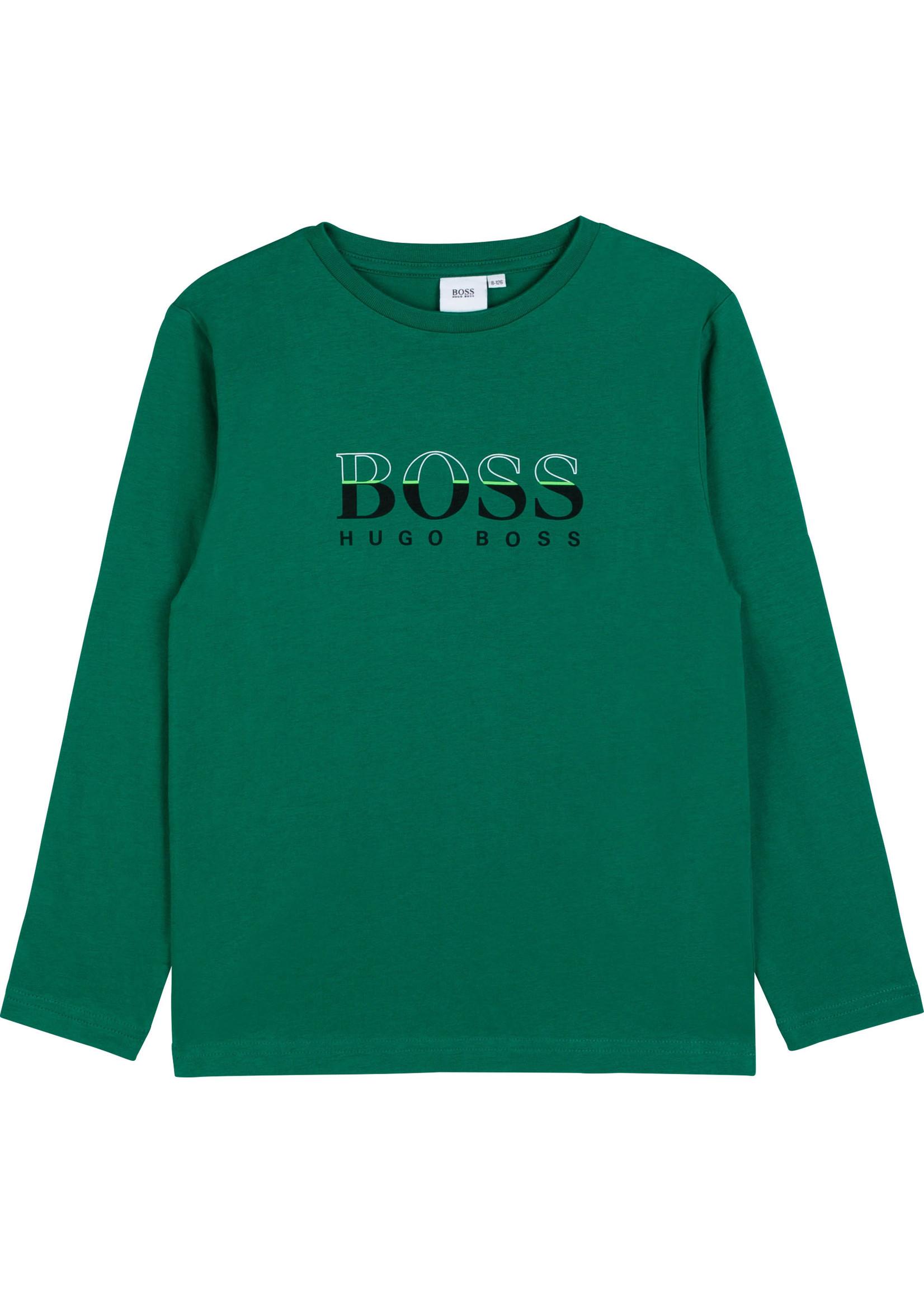 """HUGO BOSS HUGO BOSS Longsleeve """"Boss"""" groen"""