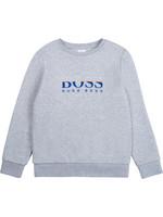 "HUGO BOSS HUGO BOSS Sweater ""Boss"" grijs/hoogblauw"