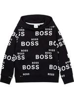 "HUGO BOSS HUGO BOSS Hoodie ""Boss"" zwart/wit"