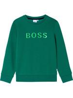 """HUGO BOSS HUGO BOSS Sweater """"Boss"""" applique groen"""