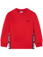 HUGO BOSS HUGO BOSS Sweater letterboord rood