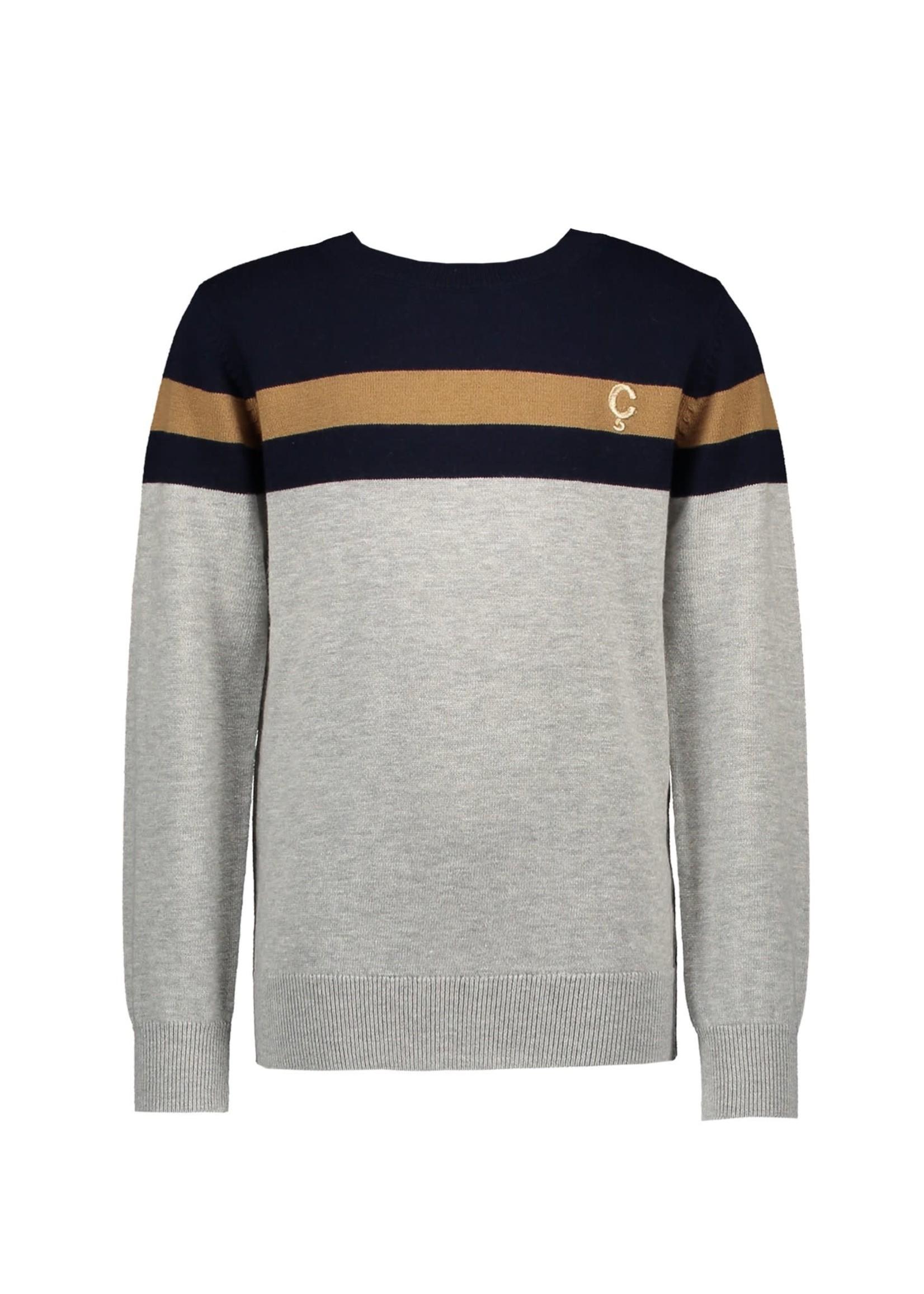 """Le Chic Garçon LE CHIC GARÇON Trui """"Owen"""" knitted stripe navy"""