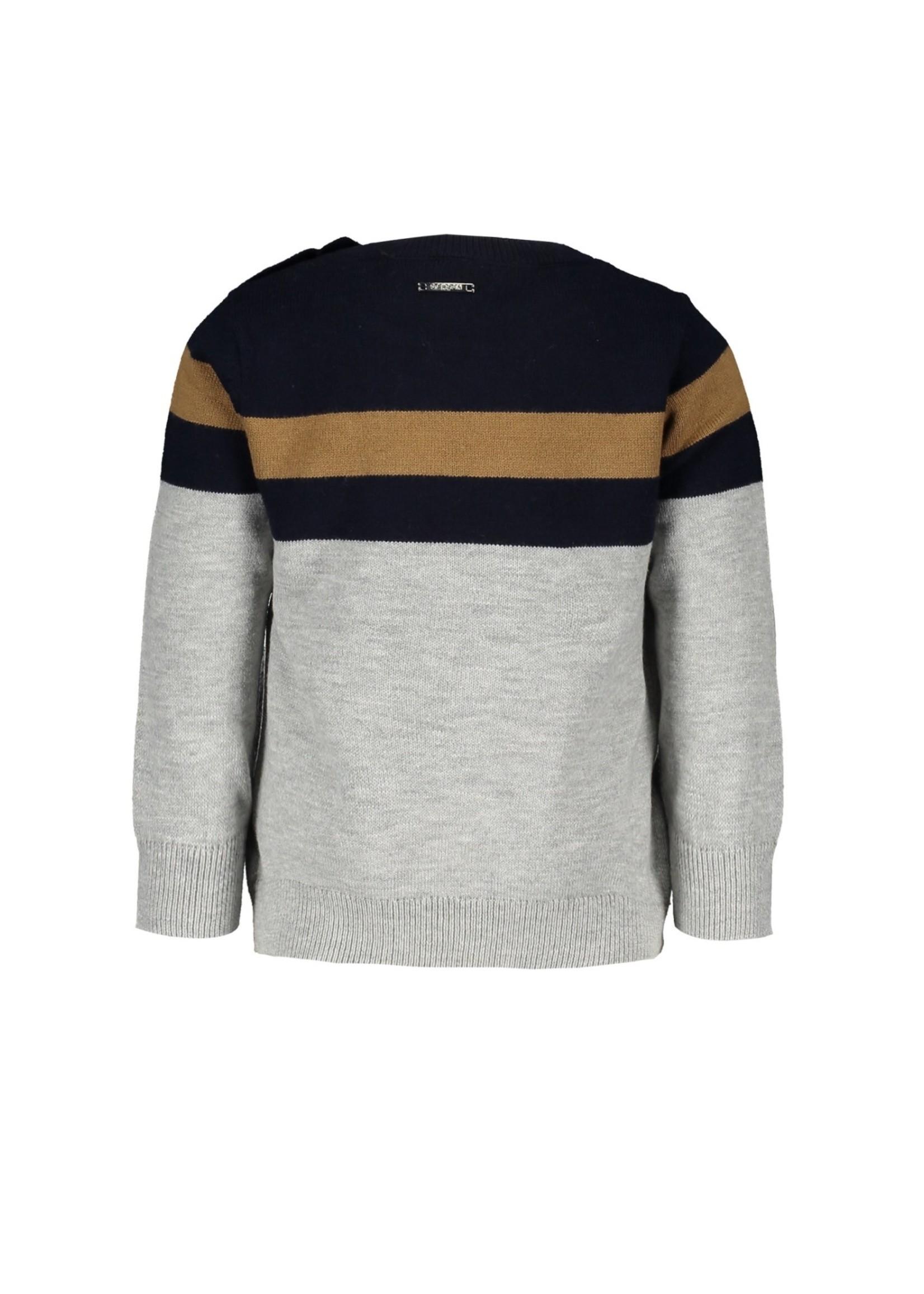"""Le Chic Garçon LE CHIC GARÇON Trui """"Oscar"""" knitted stripe navy"""