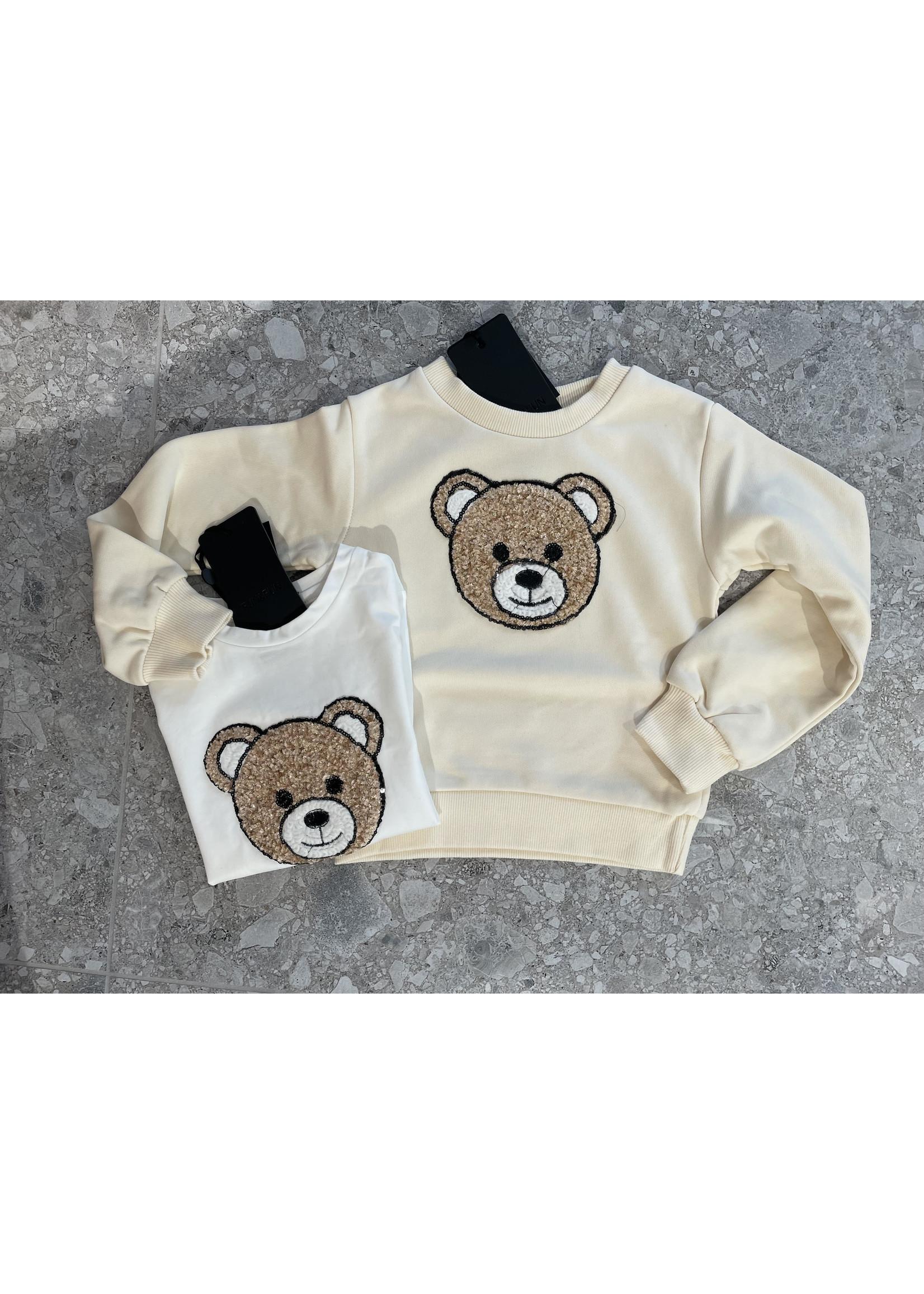 """FUN&FUN FUN&FUN Longsleeve """"Bear"""" white"""
