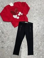"""JEYCAT JEYCAT Sweater Bow&Hearts"""" red"""