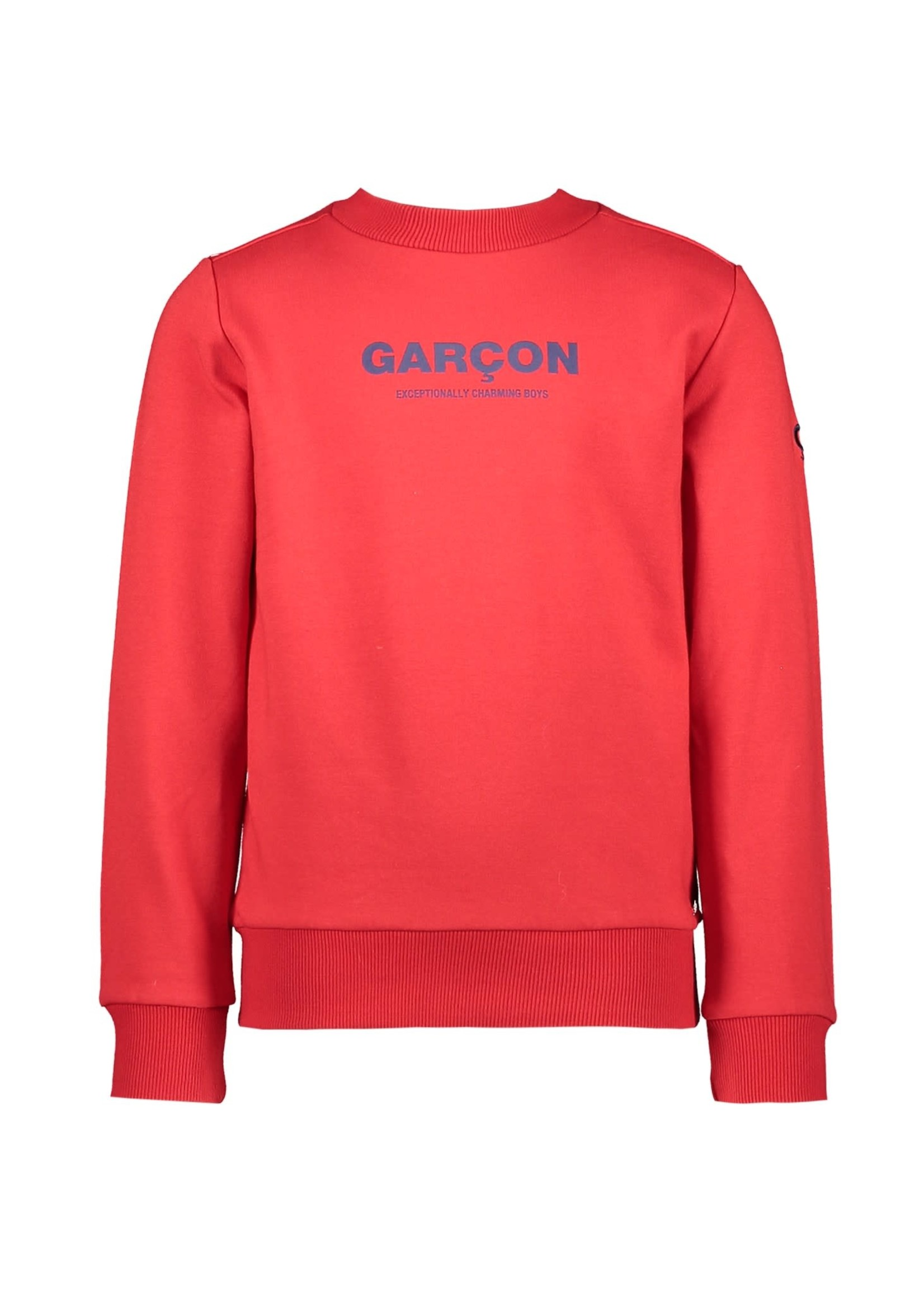 """Le Chic Garçon LE CHIC GARÇON Sweater """"Garçon"""" red"""
