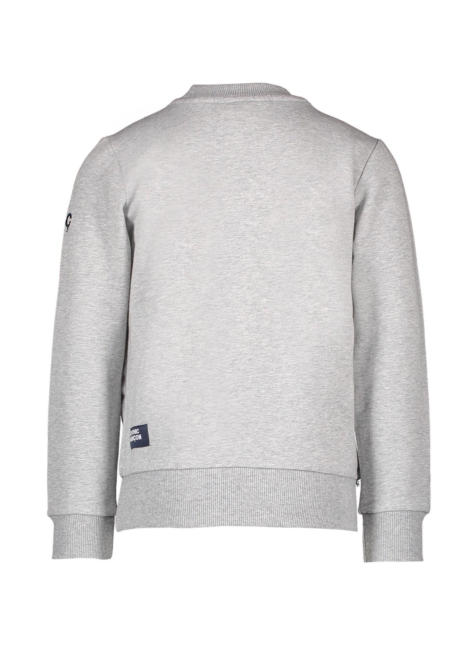 """Le Chic Garçon LE CHIC GARÇON Sweater """"Garçon"""" grey"""