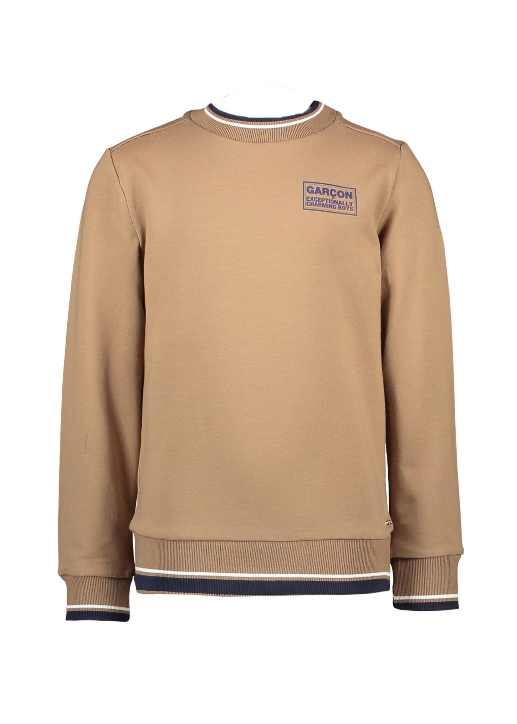 "Le Chic Garçon LE CHIC GARÇON Sweater ""Oliver""  small print bruin/beige"