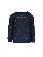 "Le Chic Garçon LE CHIC GARÇON Sweater ""Onno"" ç logo navy"
