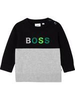 HUGO BOSS HUGO BOSS Trui zwart/grijs groene letters