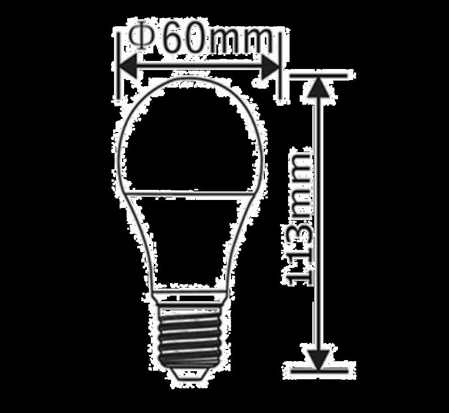 E27   5W Led Lamp A60   6400K Koud Wit