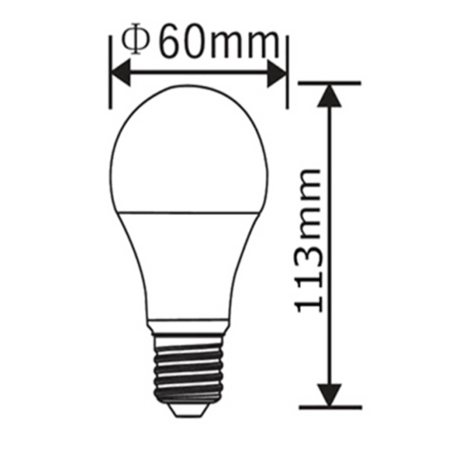 E27 | 10W Led Lamp A60 | 3000K Warm Wit