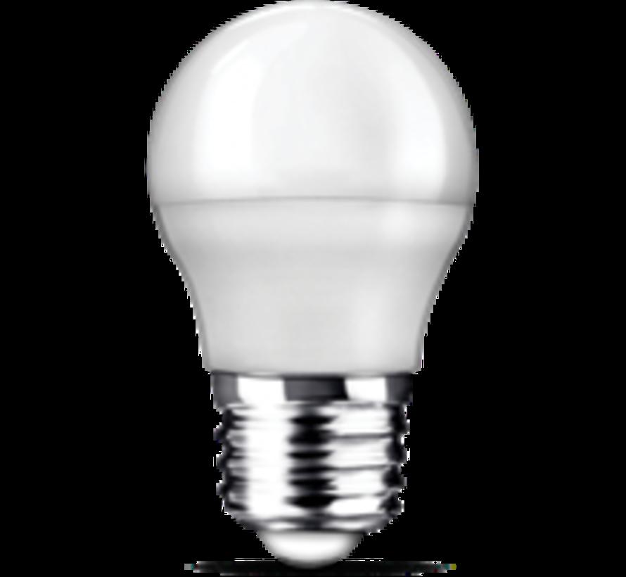 E27   5W Led Kogel Lamp G45  3000K Warm Wit