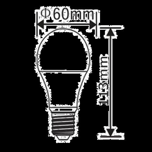 E27 | 5W Led Lamp A60 | 6400K Koud Wit