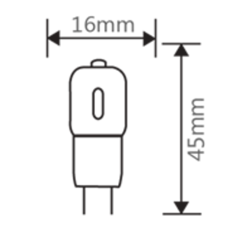 G4 | 1.5W Led Lamp | 3000K Warm Wit