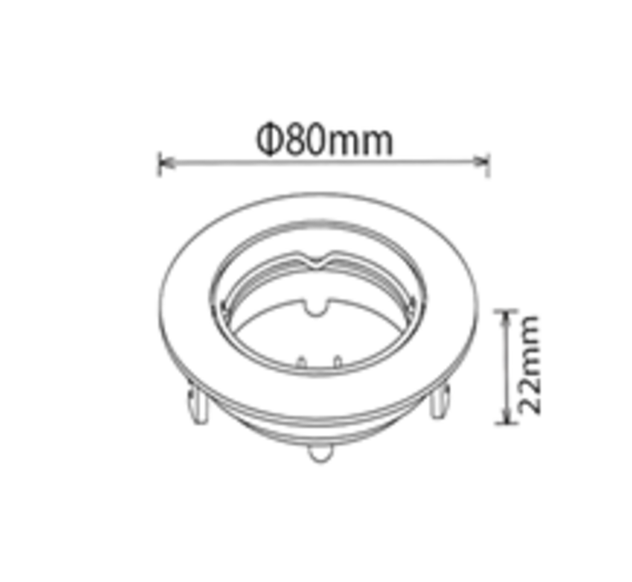 Spot Armatuur | Rond Chrome