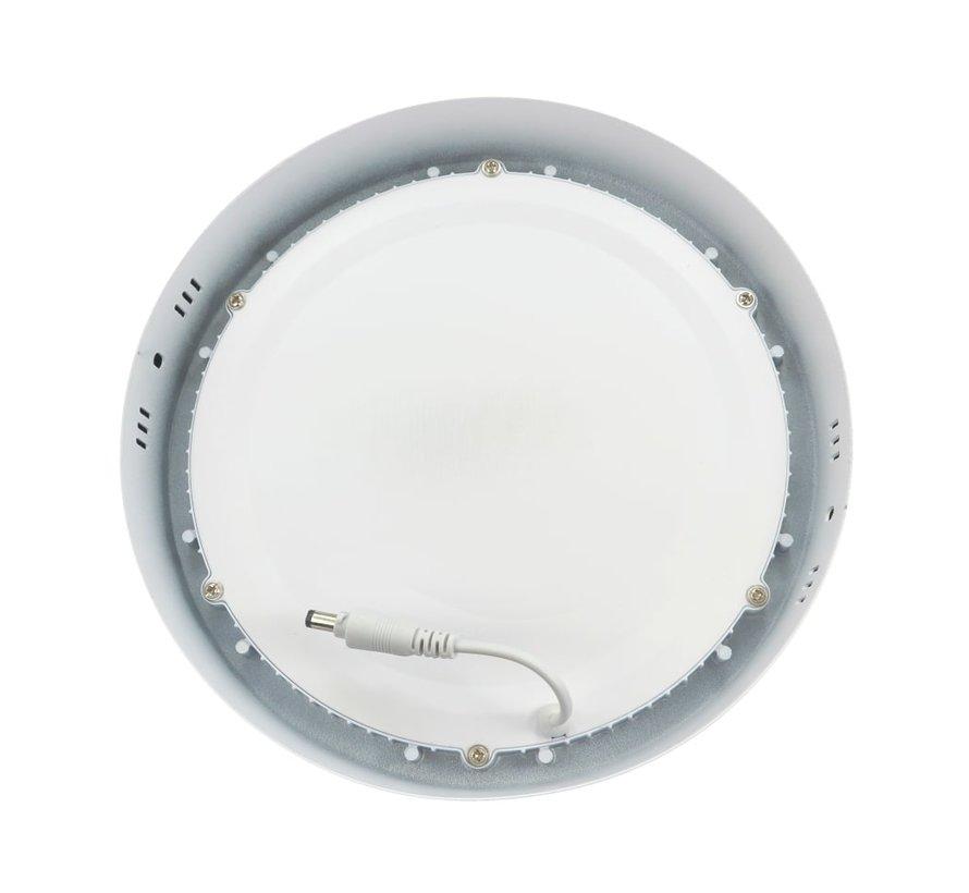 18W LED Rond Opbouw Spot | 6400K Koud Wit